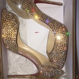 💯% authentic CHRISTIAN LOUBOUTIN crystal heels
